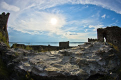 Ruins of old turkish fortress Ram near Danube river Stock Photography