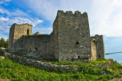Ruins of old turkish fortress Ram near Danube river Royalty Free Stock Photo