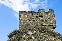 Ruins of old turkish fortress Ram by the river Danube Stock Photography