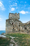Ruins of old turkish fortress Ram by the river Danube Stock Photos