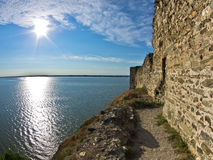 Ruins of old turkish fortress Ram by the river Danube Stock Image