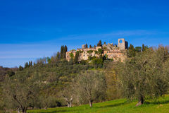 Ruins of old village in Val d'Orcia Royalty Free Stock Photos