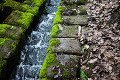 Ruins of an old water cascade Stock Image