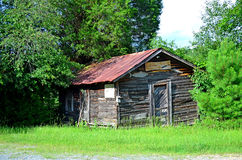 Ruins of Old Wooden Fish House stock image
