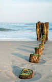 Ruins of Old Wooden Pier Stock Image