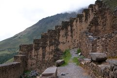 Ruins of Ollantambo, Peru Royalty Free Stock Image