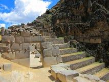 Ruins at Ollantaytambo, Peru stock images