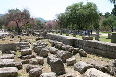 The Ruins of Olympia, Greece Stock Images