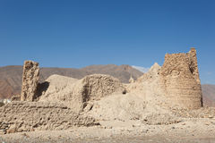 Ruins of an Omani village Stock Images