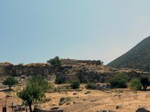 The ruins of one of the oldest settlements in Europe royalty free stock photography