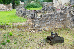 Ruins in oradour sur Glane Stock Photos