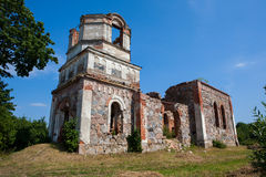 Ruins of Orthodox Holy Transfiguration Church Stock Photography