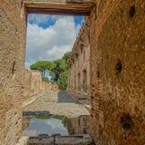 Ruins of Ostia Antica in Italy Stock Photo