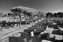 Ruins of Ostia Antica near Rome Stock Photography
