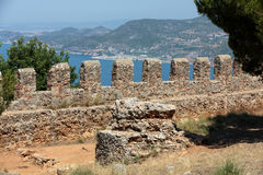 Ruins of Ottoman fortress in Alanya Stock Photos