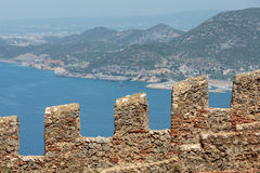 Ruins of Ottoman fortress in Alanya Royalty Free Stock Photos