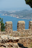 Ruins of Ottoman fortress in Alanya Royalty Free Stock Images