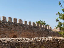 Ruins of Ottoman fortress in Alanya Royalty Free Stock Image
