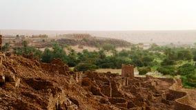 Ruins of Ouadane fortress in Sahara, Mauritania. Ruins of Ouadane fortress in Sahara , Mauritania royalty free stock photo