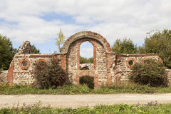 Ruins of the outbuildings of the estate of Baron Wrangel. Torosovo. Leningrad region. Russia. Stock Images