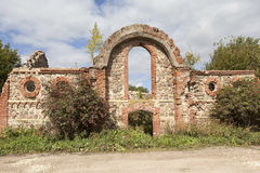 Ruins of the outbuildings of the estate of Baron Wrangel. Torosovo. Leningrad region. Russia. Stock Image