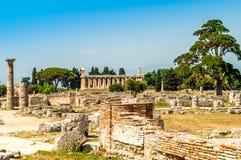 Ruins in Paestum Stock Image