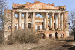 Ruins palace 18 century Stock Photos