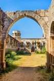 Ruins of Palace in Halvad Town in Gujarat. Ruins of Palace in Halvad at the edge of town on the banks of the Samatsar lake in Gujarat, India. Halvad was a former royalty free stock photography