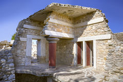 The ruins of the palace of Knossos Stock Photography