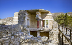 The ruins of the palace of Knossos Stock Photos