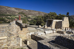 The ruins of the palace of Knossos Royalty Free Stock Images