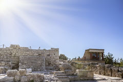 The ruins of the palace of Knossos Stock Images