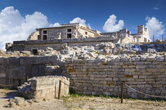 The ruins of the palace of Knossos Stock Photo