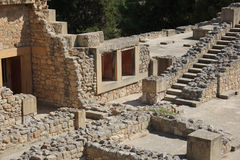 The ruins of the palace of Knossos Stock Image