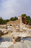 The ruins of the palace of Knossos Crete Greece Stock Images