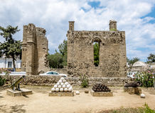 Ruins of the Palace of Venetian governors in the old town of Fam Stock Photography