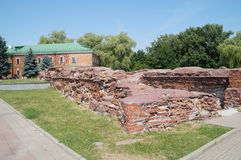 The ruins of the palace, which in 1918 signed the Brest-Litovsk and ended the First World War Royalty Free Stock Photo