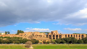 Ruins of the Palatine Hill is the centermost of t stock footage