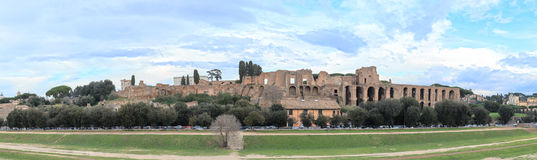 The ruins on the Palatine Hill, the Circus Maximus, Rome, Italy Stock Photography