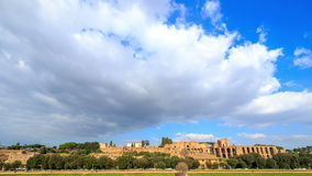 Ruins of Palatine hill palace in Rome, Italy. Tim stock footage