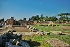 Ruins at the Palatine Hill in Rome, Italy Stock Photos