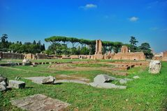 Ruins at the Palatine Hill in Rome, Italy Stock Photo