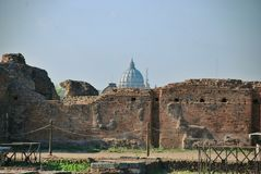 Ruins at the Palatine Hill in Rome, Italy Royalty Free Stock Images