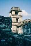 Ruins at the Palenque archeological site, Chiapas, Mexico. stock images