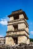 Ruins at the Palenque archeological site, Chiapas, Mexico. stock photo