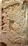The ruins of Palenque in Mexico. Detail of relief in ruins of Palenque in Mexico Royalty Free Stock Image