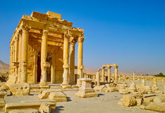 Ruins of Palmyra. A Temple in the Ruins of Palmyra Syria Stock Photo