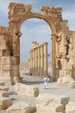 Ruins of Palmyra. City of Palmyra -  ruins of the 2nd century AD Royalty Free Stock Image