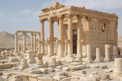 RUINS OF PALMYRA. City of Palmyra -  ruins of the 2nd century AD Stock Photo