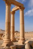 Ruins of palmyra. Ruins of the ancient aramaic city of palmyra (tadmor) in central syria royalty free stock photo